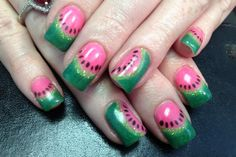 Watermelon, I love eating it but it looks even better on nails!!!