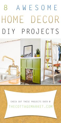 8 Awesome Home Decor DIY Projects - The Cottage Market