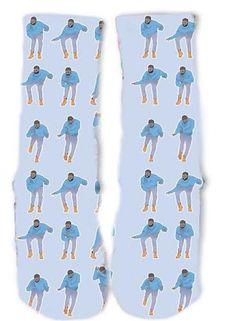 Drake Blue Hotline Bling Socks
