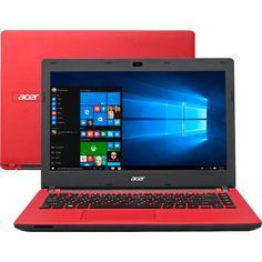 """Notebook Acer ES1-431-C3W6 Vermelho - Intel Celeron N3050 - RAM 2GB - 32GB - LED 14"""" - Windows 10 Compre em oferta por R$ 999.00 no Saldão da Informática disponível em até 6x de R$166,50. Por apenas 999.00"""