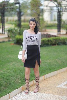 Look do dia: Saia com fenda - JustLia.com.br