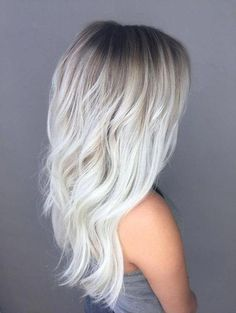 21 Icy Blonde Hair with Dark Roots Colour Ideas 21 Icy Blonde Hair . - 21 Icy Blonde Hair with Dark Roots Colour Ideas 21 Icy Blonde Hair with Dark Roots Col - Ice Blonde Hair, Icy Blonde, Platinum Blonde Hair, Blonde Color, Dark Hair, Brown Hair, Short Blonde, Silver Blonde Hair, Blonde Hair Dark Roots Balayage