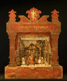 Das Germanische Nationalmuseum, Bavaria - paper theater   - paper, wood,  lithography
