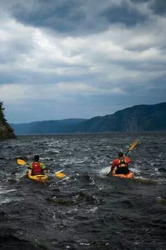 Kayak paddling on rough water. #kayak #kayaker #kayaking