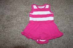 Hanna Andersson Baby Girls One-Piece Romper Pink White Striped 70  6-12 Months  #HannaAndersson #Everyday