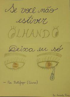 """Por Botafogo - Cicero (""""Se você não estiver olhando / Deixa eu só olhar você"""")"""