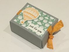 Sweet little gift box using Lift Me Up by Stampin' Up - New product - YouTube