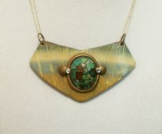 https://flic.kr/p/pyDUGx | Polymer clay and jasper bib pendant | Available in my Zibbet shop.  See profile for details.