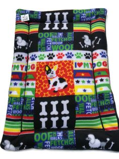 Adorable and colorful fleece pet pad with Boston Terriers and Poodles. Your pet can use this as a dog bed, bed pad, kennel mats, dog crate pad or crate mat. Dogs and cats just want a place to go to, a place that is there. My pads are perfect for about anywhere you pet wants to be; on the couch, laying in front of the door sunning themselves, in a crate/kennel, in your car. You can move a pad easily around the house and you dog has a place thats his or hers to claim. Fit a 24x36 crate&#x2...