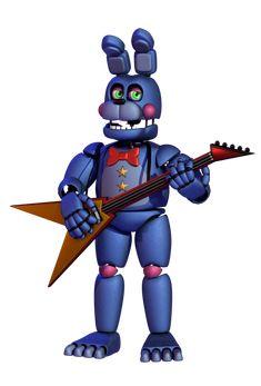 Rockstar bonnie by Five Nights At Freddy's, Fnaf Jumpscares, Nike Football Kits, Animatronic Fnaf, Fnaf Baby, Disney Cards, Fnaf Characters, Freddy Fazbear, Fnaf Drawings
