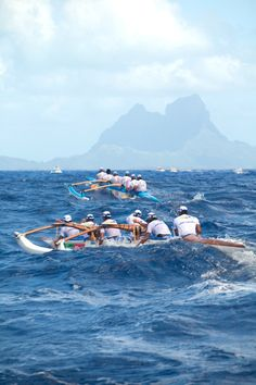 Hawaiki Nui Va'a  Is considered the Tour de France of Polynesia.  This is a grueling 3 day outrigger canoe distance race from island to island ending in Bora Bora.  Hundreds of boats follow about 100 canoes in support and it is broadcast live on national television.  Finishing the race is a true celebration of accomplishment for the racers and their families. Lei's and Hinano's are abundant as everyone chills out in the clear waters of Matira Beach.