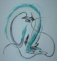 the dragon in spirited away hiyayo miyazaki sketches - Google Search
