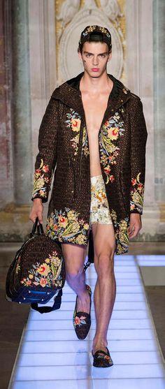 Casanova #menswear style: Moschino Spring/Summer 2016