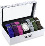 XOXO+Women%27s+XO9028+Seven+Color+Silicone+Rubber+Interchangeable+Strap+Set+Watch+Reviews+-+http%3A%2F%2Fwww.fashiontown.org%2Fxoxo-womens-xo9028-seven-color-silicone-rubber-interchangeable-strap-set-watch-reviews%2F