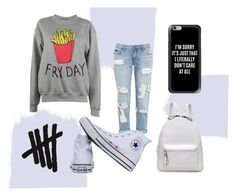 """""""Fry Day"""" by miac10 ❤ liked on Polyvore featuring Adolescent Clothing, Converse and Casetify"""