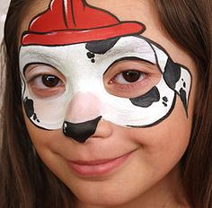Skye Paw Patrol Face Paint by Smiley Art Face Painting Animal Face Paintings, Animal Faces, Face Painting Designs, Body Painting, Mask Painting, Paw Patrol Face Paint, Minion Face Paint, Dog Face Paints, Christmas Face Painting