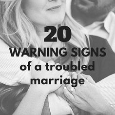 20 Warning Signs of a troubled Marriage - http://marriage365.org/20-warning-signs-of-a-troubled-marriage/ #marriage