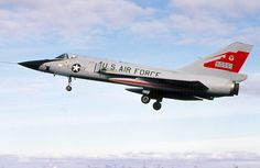 A USAF Convair F-106A Delta Dart comes in to land in Iceland May 3, 1978.