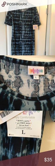 NWT Lularoe Julia - Large Large Julia new with tags Tie dye print 96% polyester 4% spandex LuLaRoe Dresses Midi