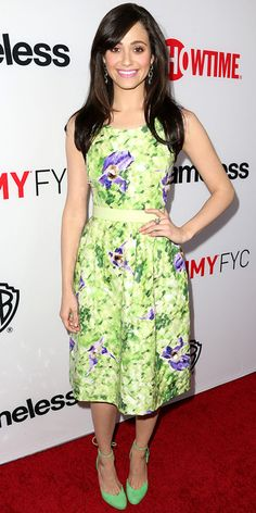 Look of the Day - June 5, 2013 - Emmy Rossum in Oscar de la Renta from #InStyle
