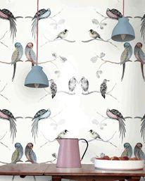 Perched Birds Cream från Louise Body