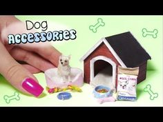 Miniature Dog Accessories Tutorial (Creating Dollhouse Miniatures)