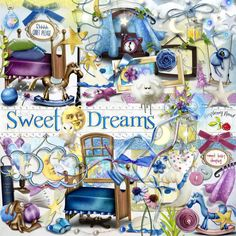A sweet fantasy style scrapbook kit for kids.