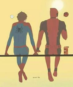 I'm really on the fence about Spideypool. But, like the board says: I❤️ Deadpool! Deadpool X Spiderman, Deadpool Love, Marvel Avengers, Marvel Comics, Batman, Spideypool, Superfamily, Deadpool Wallpaper, Matching Wallpaper