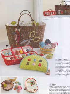 Adorable sewing kits and small tote!