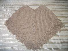 MIMOS DA MILTINHA...: Poncho infantil de trico amor