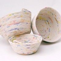 DIY ROPE BOWL, love it...rope is painted with splotches first!