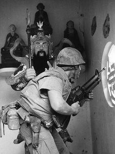 Marine in Hue City, Feb. 1968. ~ Vietnam War