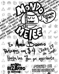 Próximo #torneo en Mondo Bizarro: Arte & Comics será de Super Mash Bros. Melee. Jueves 17 sept. desde las 7pm @mondobizvrro @museo_de_videojuegos #supersmashbros #PuertoRico #retrogaming #gaming #gamers