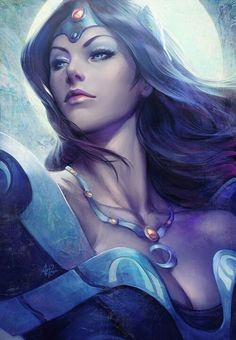 """pixalry: """"Dota 2 Illustrations - Created by Stanley Lau"""" Character Portraits, Character Art, Character Design, Fantasy Women, Fantasy Girl, Dota 2 Heroes, Defense Of The Ancients, Elfa, Photo Portrait"""
