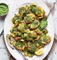 "6,928 Likes, 88 Comments - THRIVE Magazine: VEGAN (@thrivemags) on Instagram: ""Yummy crispy potatoes with vegan garlic pesto and lemon. That looks amazing @minimalistbaker…"""