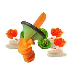 Spiral Fruit Vegetable Peeler Slicer Decor Cutter Volume Flower Kitchen Tools #SpiralFruitChina