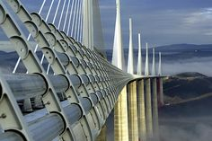 Millau Bridge in France by Norman Foster .  Awesome!