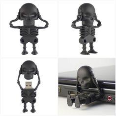 Black Skull USB Flash Drive