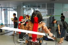 Give your head, my sword already was ravenous.  #C2age14 #HELPuni #AttackOnTitan #Cosplay