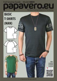 Basic t-shirts (Man) - Raglan and Tee, 13 sizes   Craftsy