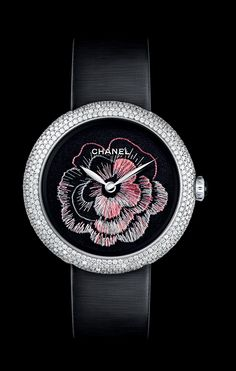 Chanel Mademoiselle Privé Watch with Embroidered Camellia Decoration