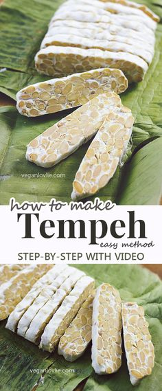 An easy method of how to make tempeh at home. Watch the video tutorial… Tofu Recipes, Whole Food Recipes, Vegetarian Recipes, Cooking Recipes, Healthy Recipes, Cooking Games, Cooking Tips, Vegan Foods, Vegan Dishes