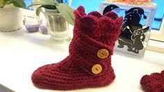 Hæklet sutsko Ugg Boots, Uggs, Slippers, Crochet, Blog, Diy, Shoes, Fashion, Moda