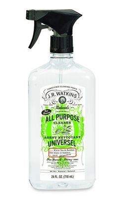 Eco-friendly cleaning products for Earth Day: J.R. Watkins' White Tea & Bamboo All-Purpose Cleaner (natural ingredients)