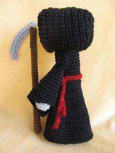 Grim Reaper Crochet Amigurumi Pattern by CraftyDebDesigns on Etsy