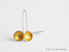 Earrings Silver 925, Japanese lacquer (Cashew), gold leaf by Laia Calatrava ( in my collection )