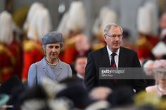 Prince Richard, Duke of Gloucester, (R) and Birgitte, Duchess of Gloucester arrive for a service of thanksgiving for Queen Elizabeth II's 90th birthday at St Paul's cathedral on June 10, 2016 in London, United Kingdom.