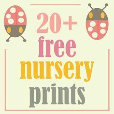 MeinLilaPark – digital freebies: ☞ More than 20 free nursery printables – kids room printables