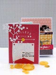 Cartes assorties à la boîte à offrir (tuto en suivant le lien de l'image). Créations de Natalia, de l'équipe créative Kesi'art.