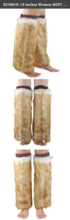 ECOSCO 13 inches Women SOFT COZY FUZZY Faux Fur Leg Warmers Boots Cuffs Cover. Fashion, stylish, versatile, soft, stretch, and comfy. Material: Faux Fur There may be some fallen hairs attached during production, you may tap it slightly to remove the hairs Size: Length: 40cm = about 15 inches. Free size/one size fits all. Dry clean only. Do not wash,bleach or iron. Easily scrunched into boots One pair per pack. Color: Light brown ECOSCO Leg warmer.